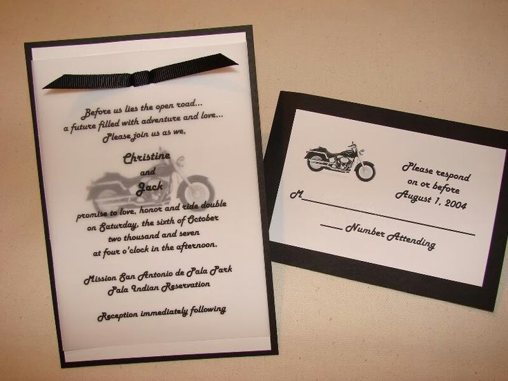 10 best motorcycle wedding images on pinterest | motorcycle, Wedding invitations