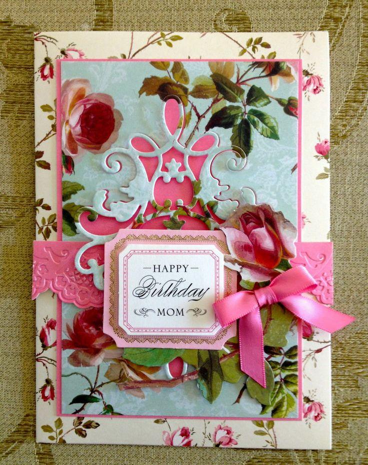 "Handmade Anna Griffin Vintage ""Happy Birthday Mom"
