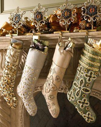 Beaded Christmas Stockings