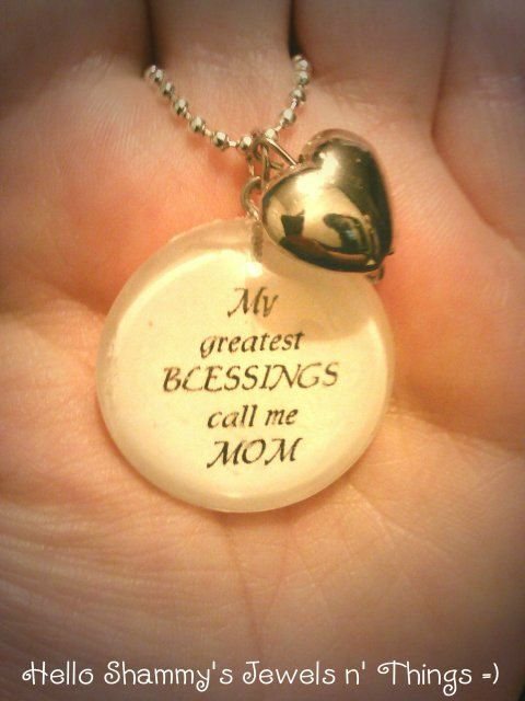 Nana Quotes: A Mother's Love For Her Children Quote Necklace. My