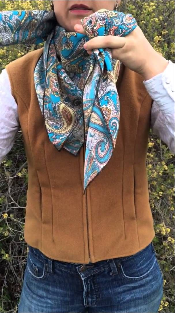 How To Tie The Buckaroo Square Knot by Flat Hat Rags girl Amanda Stinemetze