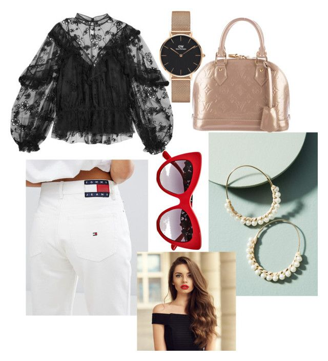 """""""Untitled #182"""" by jessieeev on Polyvore featuring Chloé, Tommy Hilfiger, Louis Vuitton, Daniel Wellington, Anthropologie and Dolce&Gabbana"""