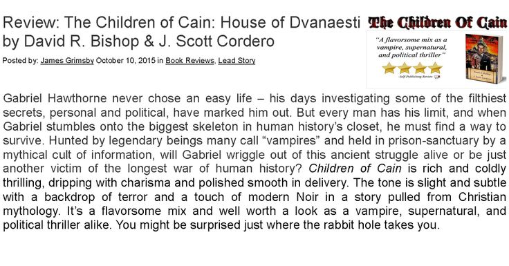 Read the full #Review #TheChildrenOfCain here http://ht.ly/TsyWD
