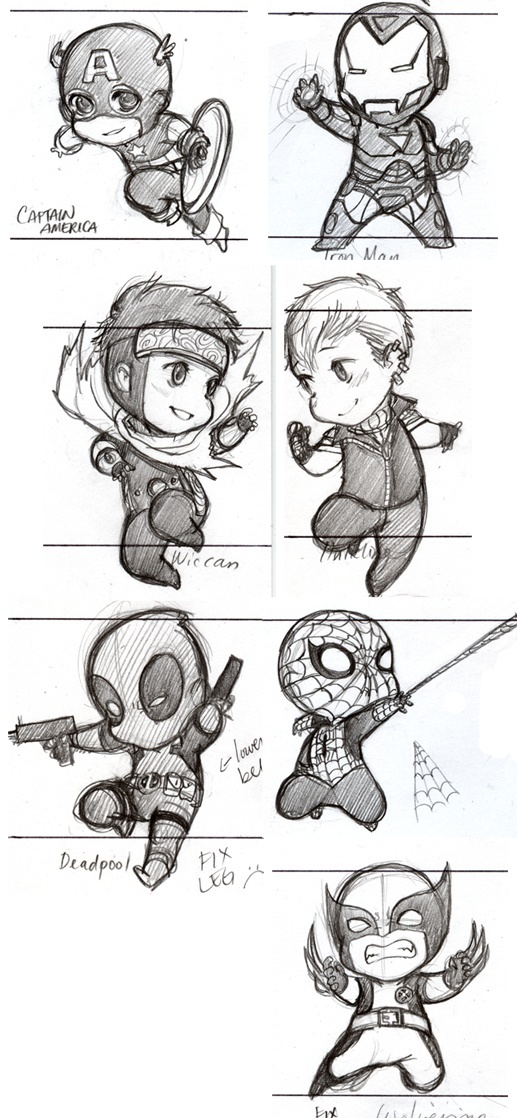 Sketching out Heroes