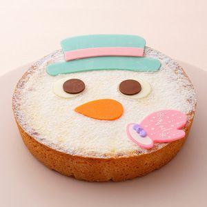 スノーマンの顔をモチーフにした、インパクトあるケーキ。【京都店23日・24日店頭お渡し】【高島屋限定】クリスマスタルトフロマージュ