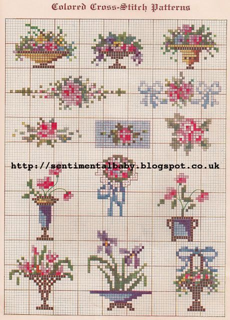 The Vintage Pattern Files: 1920's Embroidery - Cross Stitch Samplers.