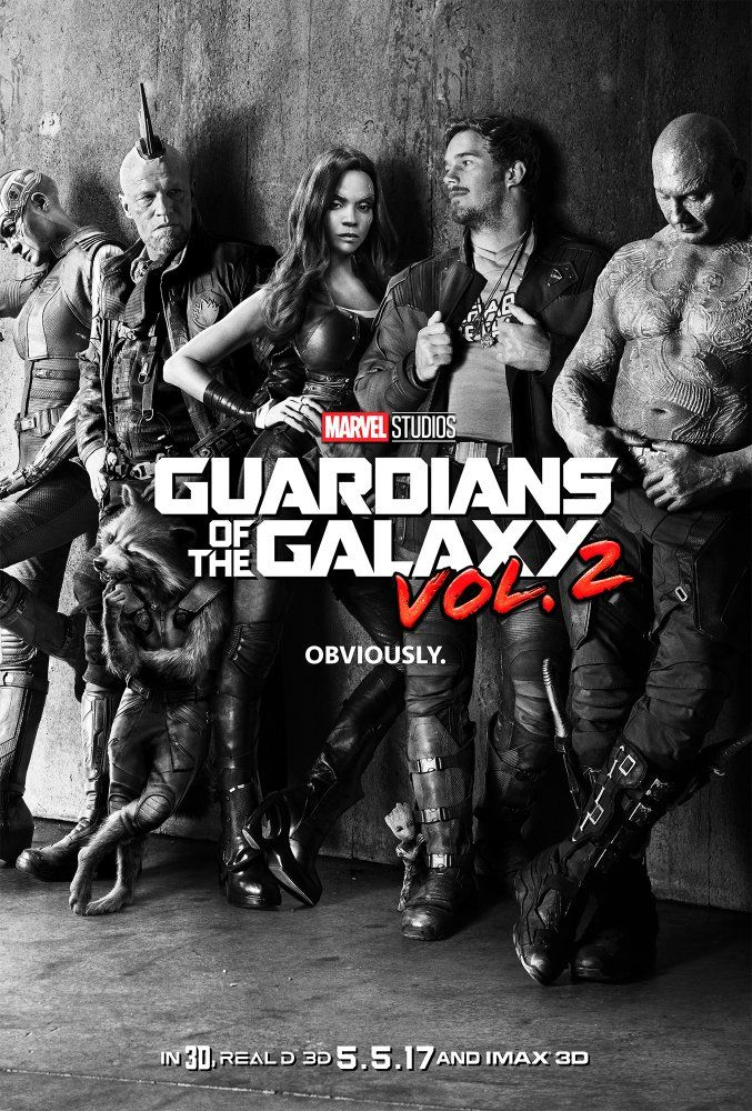 Vin Diesel, Bradley Cooper, Chris Pratt, Michael Rooker, Zoe Saldana, Dave Bautista, and Karen Gillan in Guardians of the Galaxy Vol. 2 (2017)