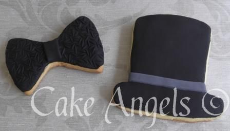 Bow Tie Cookie and Top Hat Cookie