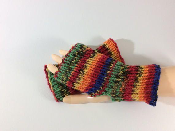 Fingerless gloves thumbless gloves handwarmers ribbed