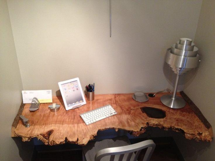 Custom Made Live Edge Maple Desk