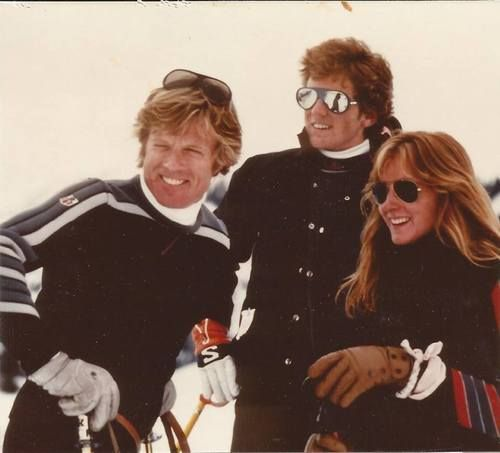Robert Redford with his children Jamie and Shauna