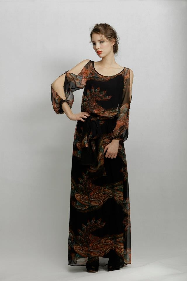 Quinn Maxi Black Rooster by LISA BROWN
