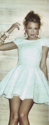 : Girl Crushes, Style, Blake Lively, Beautiful Blake, The Dress, Mademoiselle Blake, Little White Dresses, Blakelively, Gossip Girls