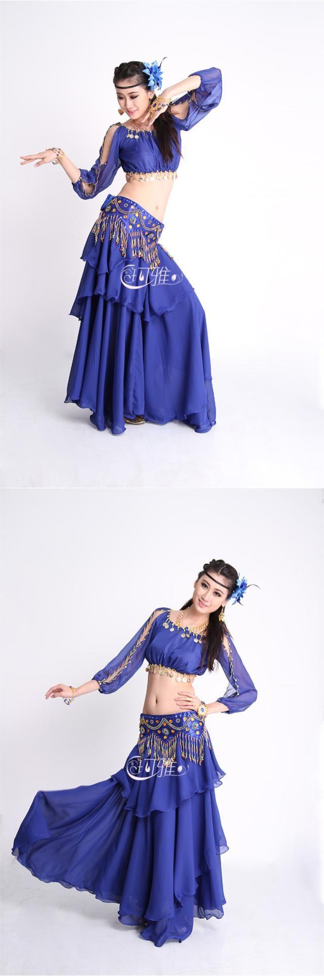 2015 Hotsale 6 couleurs Top + ceinture + jupe Costumes de danse du ventre du ventre danse indienne Costume de robe pour la danse orientale Gypsy jupe femmes dans Danse du ventre de Nouveauté et une utilisation particulière sur AliExpress.com | Alibaba Group