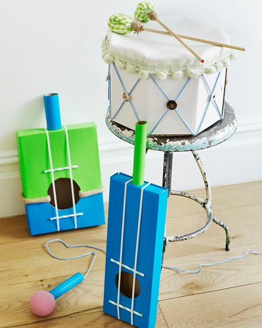 Make some music with these DIY instruments...kids would love these!