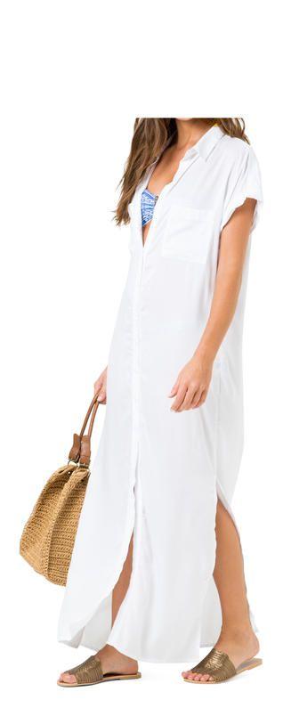vestido chemise longo liso | Salinas
