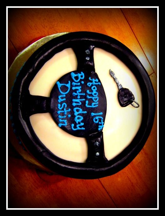 Car Wheel Cake