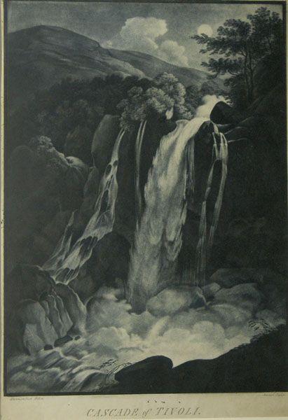 Cascade Of Tivoli By John Jenner After Franz Joseph Manskirsch