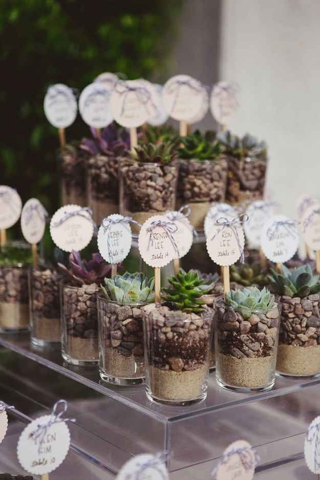 Succulent Place Card Planters.... Love!!!