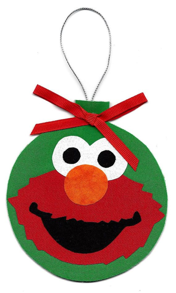 Personalized Elmo Christmas tree ornament by patternoldies on Etsy
