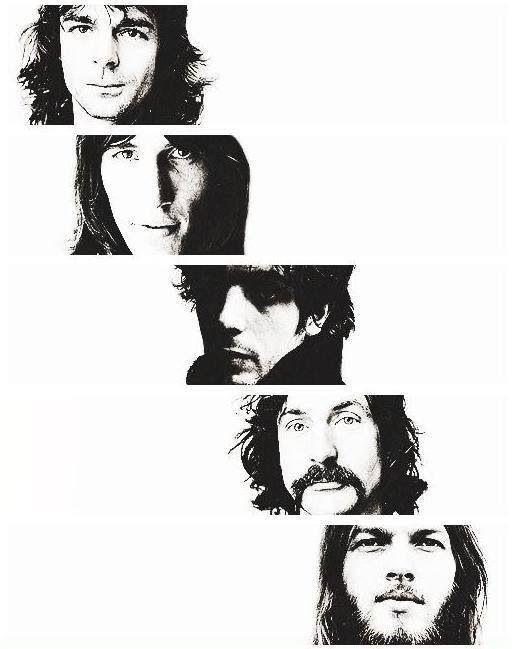 Richard Wright Roger Waters Syd Barrett Nick Mason David Gilmour Pink Floyd