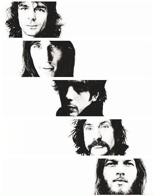 Pink Floyd Top to Bottom - Richard Wright, Roger Waters, Syd Barrett, Nick Mason and David Gilmour.