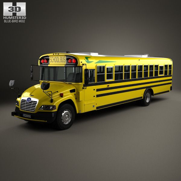 Blue Bird Vision School Bus 2015 3d Model From Humster3d