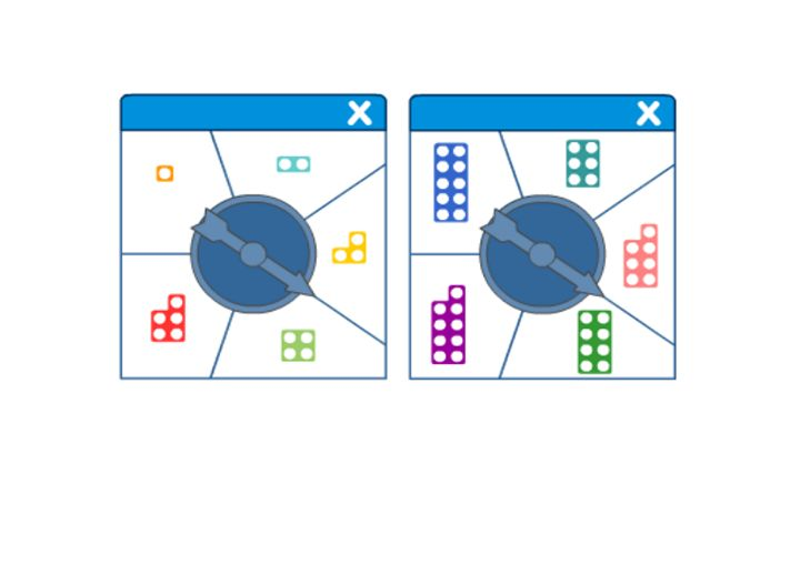 Here's a set of Numicon spinners for recognition of the shapes