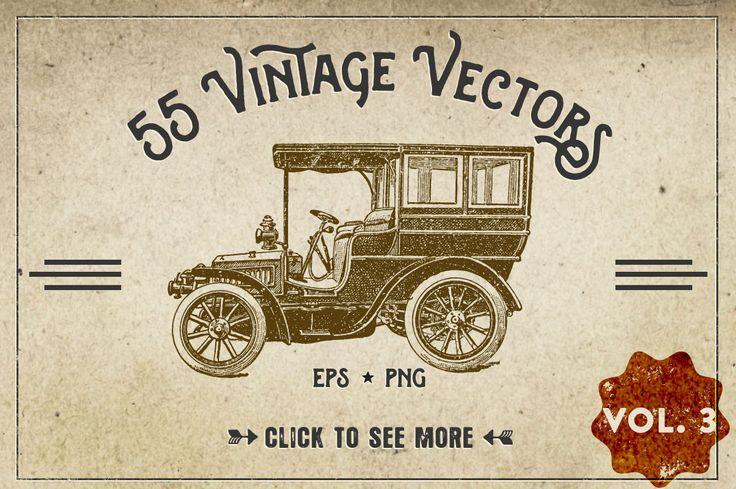 55 Vintage Vector Graphics - Vol.3