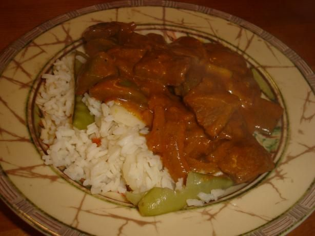 East Indian-Style Spiced Beef With Rice from Food.com: The house smells great while this is cooking.