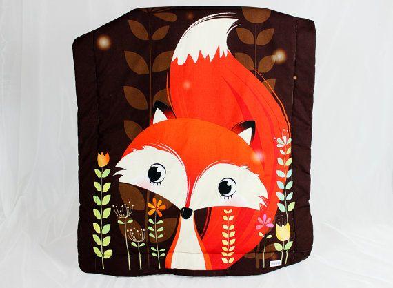 Baby Blanket  Overlay Throws Minky Fox Orange Brown by NuvaArt