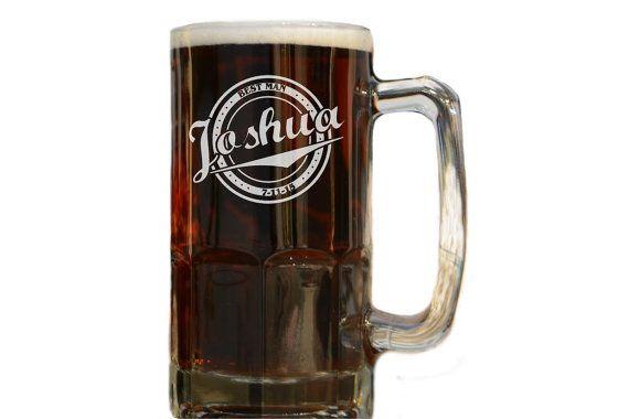 Personalized Beer Stein Groomsman Wedding por UrbanFarmhouseTampa