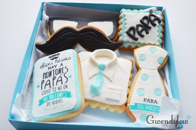 Galletas para el día del Padre - Fondant e Impresiones comestibles - Ñam, Ñam!!!