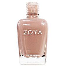 Zoya Nail Polish in Helen - Light milky caramel brown with soft peach undertones and a glossy creme finish. A nude skin tone shade for a perfectly natural look.