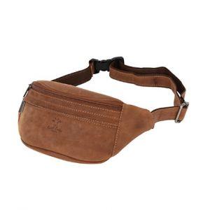 """Riñonera de cuero para la cintura en marrón """"camel"""" - DeCueroOnline.com"""