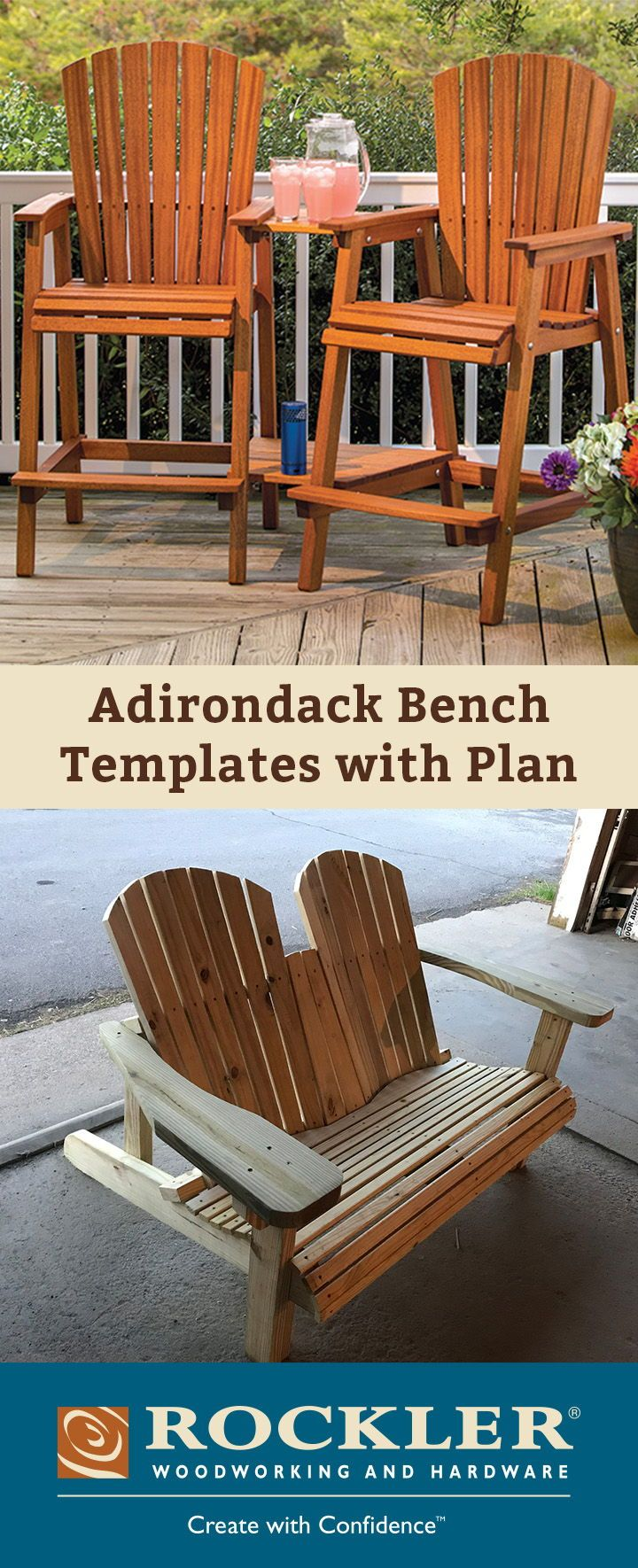 adirondack bench templates with plan and stainless steel hardware rh pinterest com