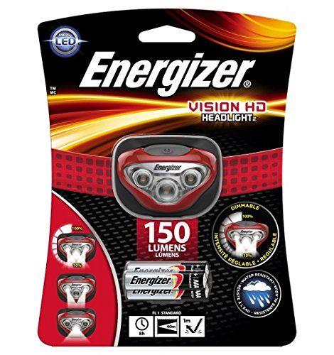 Energizer Pro Headlight - Linterna de cabeza 4 LED con 2x pilas alcalinas AAA
