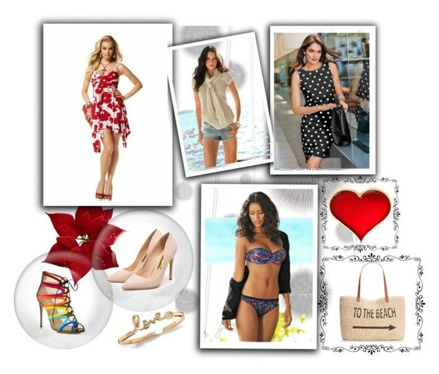 """""""Thinking of Summer"""" by nellasshop on Polyvore featuring Komar, Style & Co., Rupert Sanderson, Salvatore Ferragamo, women's clothing, women, female, woman, misses and juniors"""
