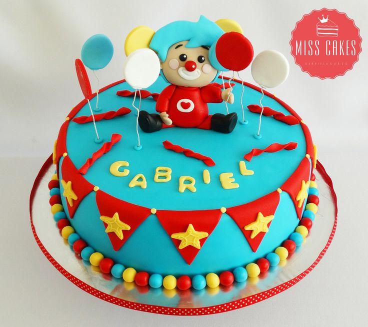 Clown Cake, Payaso Plim Plim Cake, Torta Payaso Plim Plim