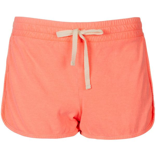 TOPSHOP Neon Side Panel Runner Shorts ($20) ❤ liked on Polyvore