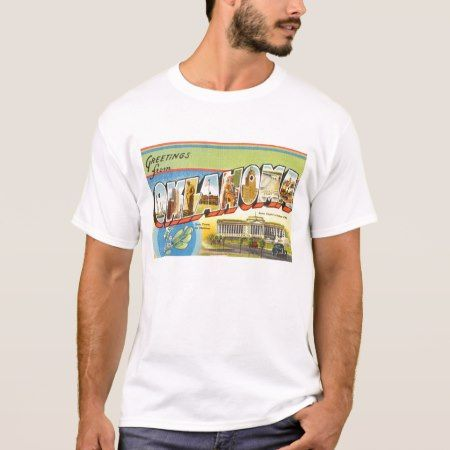 State of Oklahoma OK Old Vintage Travel Souvenir T-Shirt - click/tap to personalize and buy