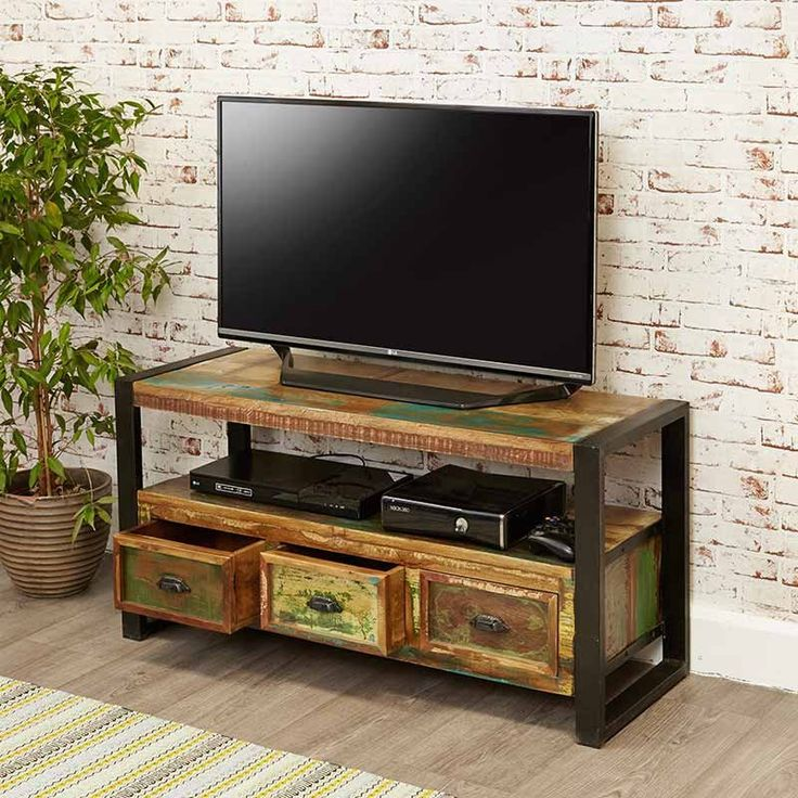 Urban Chic Reclaimed Wood Television Cabinet -  - TV Unit - Baumhaus - Space & Shape - 2