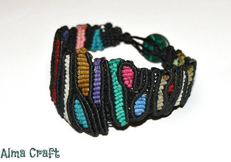 Abstract Colorful Macrame Bracelet