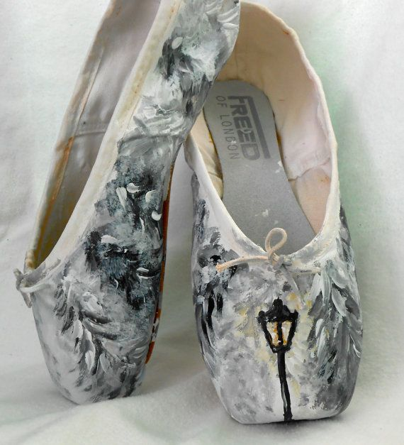 Narnia Inspired HandPainted Pointe Shoes by SecondStarToTheLeft