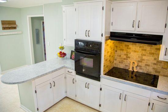 Kitchen Update Under 1000 Pine Kitchen Cabinets Updated Kitchen New Countertops