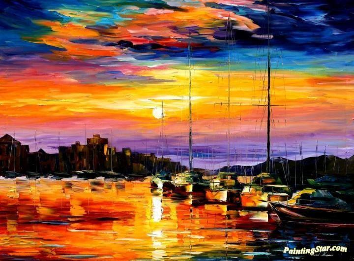 Sicily - messina Artwork by Leonid Afremov