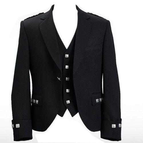 "New Argyle Kilt Jacket With Waistcoat/Vest - Sizes 36""- 54"" USA SELLER #AllSafe #JacketsWaistcoats"