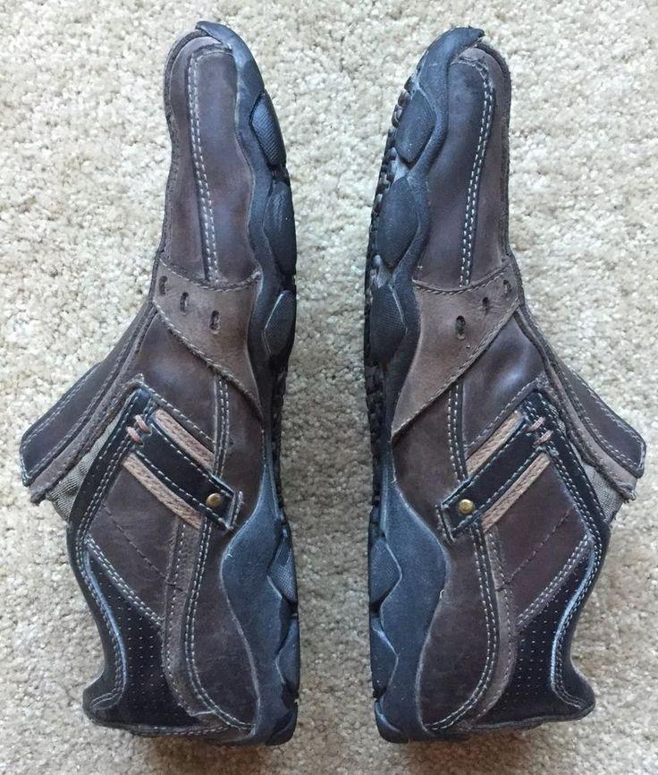 Skechers Men's Brown Slip on Leather Moccasin Shoes EUC Size 10 | eBay