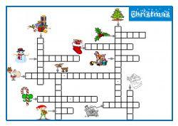 Christmas Bingo Mots Croises Bingo De Noel Noel Anglais