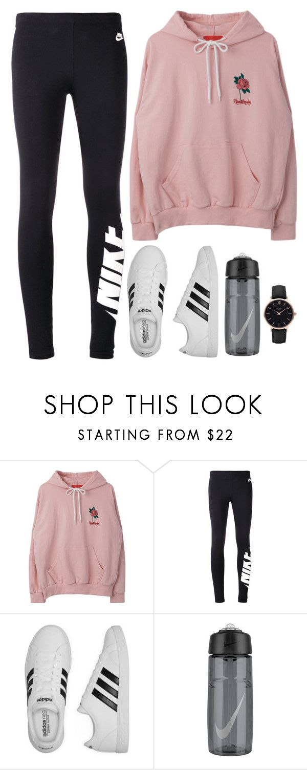 """""""Dino X Dance Club"""" by jleeoutfitters ❤ liked on Polyvore featuring NIKE, adidas and CLUSE"""